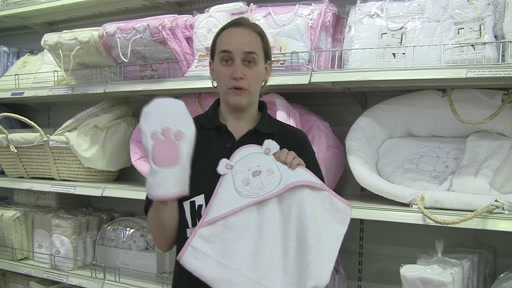 Obaby B is for Beat Hooded Towel Set - image 3 from the video