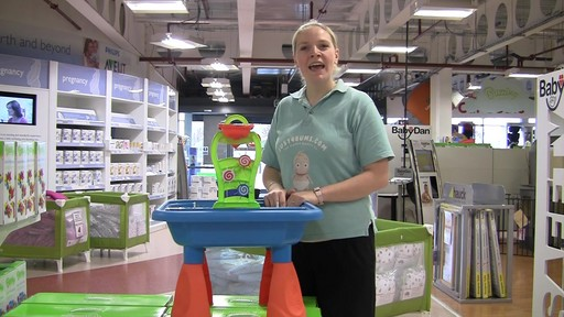 Buzzing Brains Sand & Water Play Table - Kiddicare - image 2 from the video