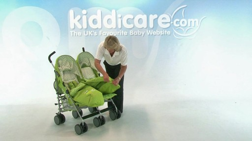 Baby Weavers You and Me Twin Pushchair - Kiddicare - image 3 from the video