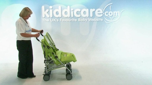 Baby Weavers You and Me Twin Pushchair - Kiddicare - image 8 from the video
