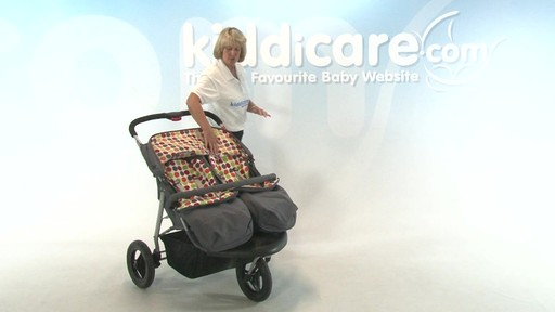 BabyWeavers Baby 2 Twin Pushchair - Kiddicare - image 2 from the video
