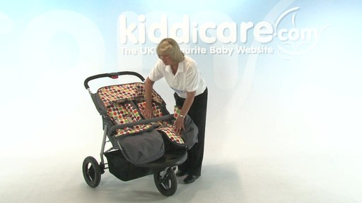 BabyWeavers Baby 2 Twin Pushchair - Kiddicare - image 3 from the video