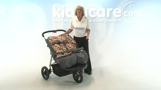 BabyWeavers Baby 2 Twin Pushchair - Kiddicare - image 5 from the video