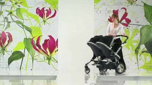First Wheels Twin Pushchair Black - image 3 from the video